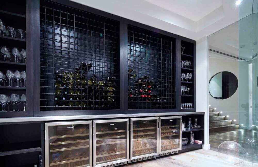 luxury kitchen renovation toorak wine cabinets milan cabinermakers